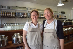 "Amanda & Jeannie, Wasteless Pantry. Their motto ""Just what you need"" says it all about the philosophy of the store"
