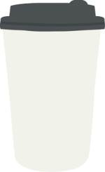 single-use takeaway coffee cup with plastic lid