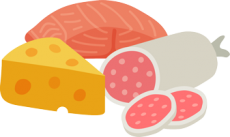 cheese, meat and salami