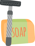 Reusable razor and bar of soap