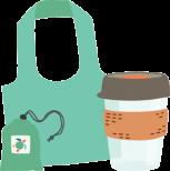 Onya bag and keep cup