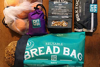 range of reusable bags - product bag, shopping bag, bulk food bag, bread bag